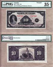 PMG CHVF35 1935 $10 Princess Mary- Scarcer French Variety Banque Du Canada BC-8