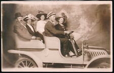 CHICAGO IL Riverview Exposition Antique RPPC Folks Car