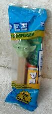 Star Wars Yoda PEZ 1st Release Edition Dispenser Orange Lemon & Game Card
