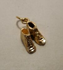 Set of Shoes - Tennis Shoes - Sneakers - 14K Yellow Gold - Small Charm Pendant