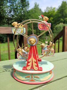 2008 Cherished Teddies 4010093 Musical Ferris Wheel Life Is A Wonderful Ride