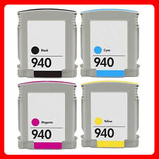 4 Ink NON-OEM Cartridge for HP 940 XL Officejet Pro 8500 Wireless Pro 8500A Plus