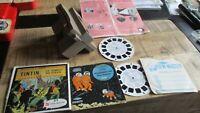 Tintin-Anciens view Master le temple du soleil +Lune+ appareil-1949&1965