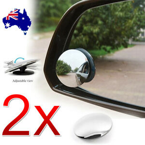 2x Blind Spot Car Mirror Rimless Wide Angle Convex Mirrors  Frameless Glass