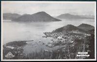 Alaska Steamship Company 1934 SS Yukon Menu w Wrangell Aerial View cover