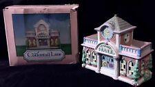 Cottontail Lane-Lighted Town Hall-Vote Nov 2!Spring Easter Bunny Cottage Village
