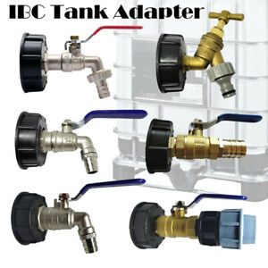 IBC S60X6 water tank outlet fitting/connector/adapter with range of tap outlets