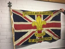 Original 7'6 scout troop flag Pole standard with top finial FLAG NOT INCLUDED !!