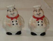 Vintage Italian Chef salt & pepper shaker shakers set ~