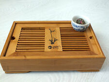 CHINESE BAMBOO GREEN TEA 28x18cm SERVING TRAY JAPANESE SUSHI STARTER PLATE PARTY
