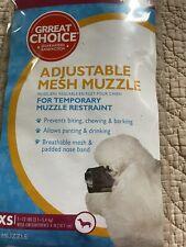 Grreat Choice Adjustable Mesh Muzzle Extra-Small 7-12 lbs