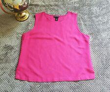 DIALOGUE Women's Pink Sleeveless Summer Top Curvy Plus Sz XL Short Sleeve Blouse