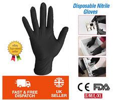 Premium Nitrile BLACK Gloves Powder Free Latex Free Food Catering Hairdressers