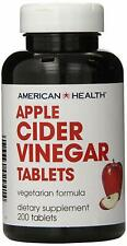 American Health Apple Cider Vinegar 480 mg 200 Tablets Clearence Exp 04/2020