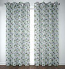 S4sassy Floral Leaves & Azalia Door Curtain Eyelet Printed Drapers -FL-866C