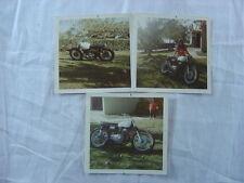 Lot of 3 Vintage 1970 Photos Motorcycle Dirt Bike Motocross & Pretty Girl 783003