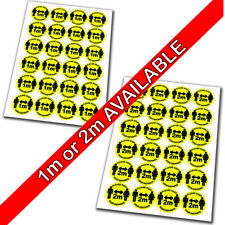 24 x 45mm - Keep Your Distance 1 or 2 Meters Social Distancing Stickers (4.5cm)
