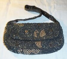 EXQUISITE INDIAN RETRO ACCESSORIZE EVENING OR DAY BAG BEADED THRO-OVER-SHOULDER