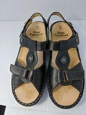 Finn Comfort Adana Black Leather Sandals Slingback Womens UK 4.5 D Fits US 6.5
