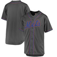New York Mets MLB Men's Charcoal Fashion Big & Tall Team Jersey
