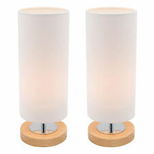NEW PAIR of Mercator Brady Touch Table Lamp Bedside White Colour A35211WHT
