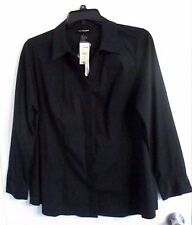 LANE BRYANT womens plus size 18 BLACK button down SHIRT NWT #0445