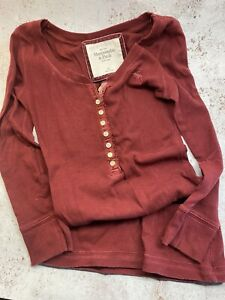 abercrombie and fitch Fine Jersey Grandad Top XS