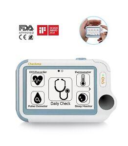 NEW Portable ECG EKG, Thermometer, Pulse, Oximeter, & Apnea , Vitals Monitor
