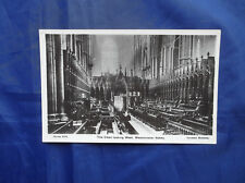 REAL PHOTOGRAPH POSTCARD-THE CHOIR LOOKING WEST, WESTMINSTER ABBEY-DAVIDSON BROS
