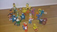 Sesame Street PVC Hand Painted Figurines + Magnets Big Bird Elmo Cookie Monster