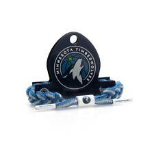 Rastaclat NBA Minnesota Timberwolves Azul Gris Deportivo Cordones de Zapatos