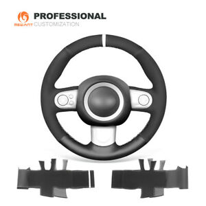 Suede Genuine Leather Car Steering Wheel Cover for Mini Cooper Clubman Hardtop