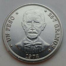 Dominican Republic Un Peso 1978. KM#53. One Dollar coin. J.P. Duarte.