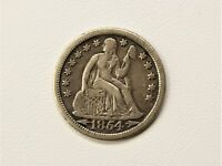 1854 Seated Liberty Dime, Arrows ~VF~