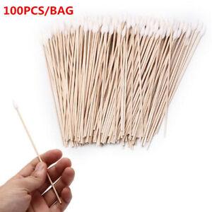100Pcs/Set 15cm Gun Cleaning Cotton Swabs,Large Tapered Swabs Gun Clean Brushes