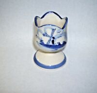 Windmill Handpainted Delft Egg Cup Holland  from Aruba