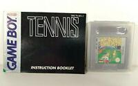 Retro Tennis - Nintendo Game Boy - Manual Included - Protective Case - 1989