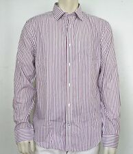 GAP Mens 1969 Non Iron Blue Red Stripe Shirt NwT Large