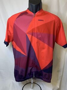 Primal Cycling Jersey Full Zip Short Sleeve Large