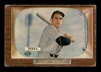 1955 Bowman Set Break # 168 Yogi Berra LOW GRADE *OBGcards*