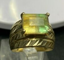 Vintage 14k solid gold with Bi-color Tourmaline ring 5.35g size O -  7