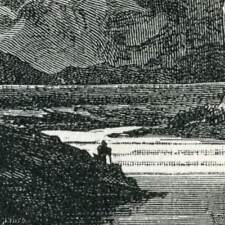 SPAIN TAGUS RIVER GORGE 1884 antique print