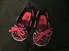 Sperry Shoes / Topsiders Pink Zebra Baby Boatshoes Size 2M