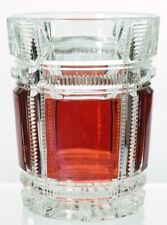 EAPG Duncan's No. 90 Zippered Block - Ruby Stained Tumbler