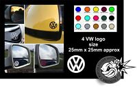 4 x VW VOLKSWAGEN LOGO MIRROR DECALS STICKERS GRAPHICS STICKER T5 GOLF PASSAT