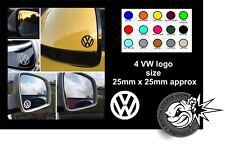 4 x VW VOLKSWAGEN LOGO MIRROR DECALS STICKERS GRAPHICS STICKER T5 GOLF PASSAT