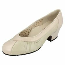 Plus Size 100% Leather Court Shoes for Women