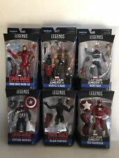 Lot 6 Marvel Legends Captain America.Giant Man BAF.Black Panther,Nick Fury.New!
