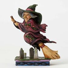 Flying Witch Graveyard figurine Jim Shore Heartwood Creek Halloween Home Decor