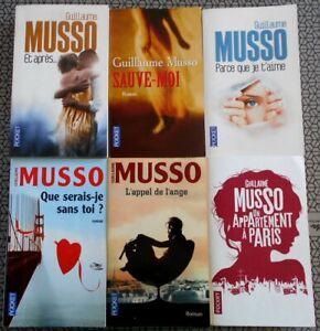 LOT de 6 Livres Romans Guillaume MUSSO - Poche - Editions Pocket